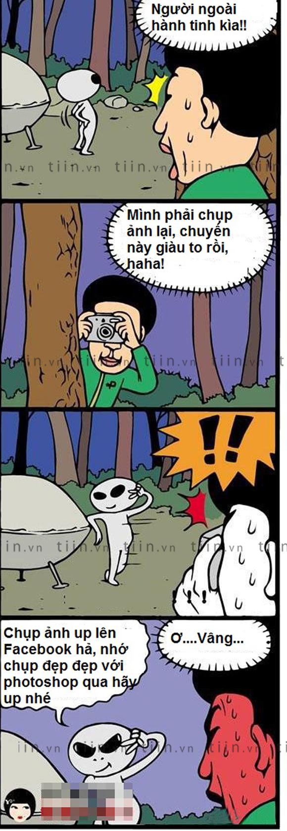 Khi người ngoài hành tinh chụp ảnh